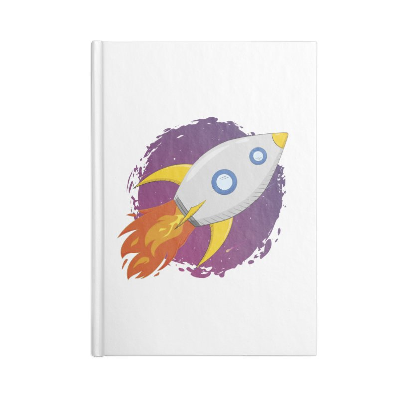 Space Rocket Accessories Blank Journal Notebook by Synner Design