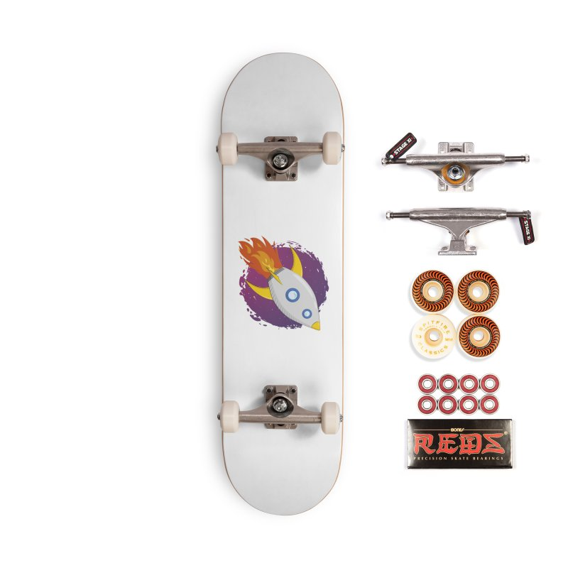 Space Rocket Accessories Skateboard by Synner Design