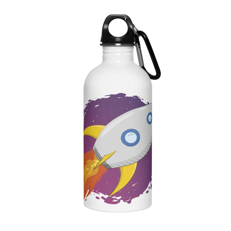 Space Rocket Accessories Water Bottle by Synner Design