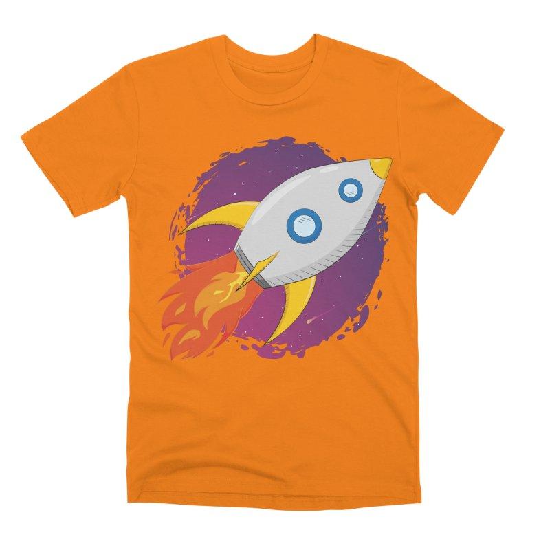 Space Rocket Men's Premium T-Shirt by Synner Design
