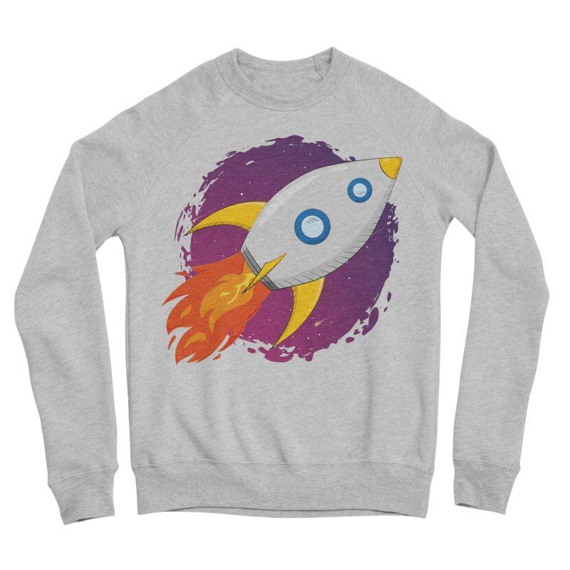 Space Rocket Men's Sponge Fleece Sweatshirt by Synner Design