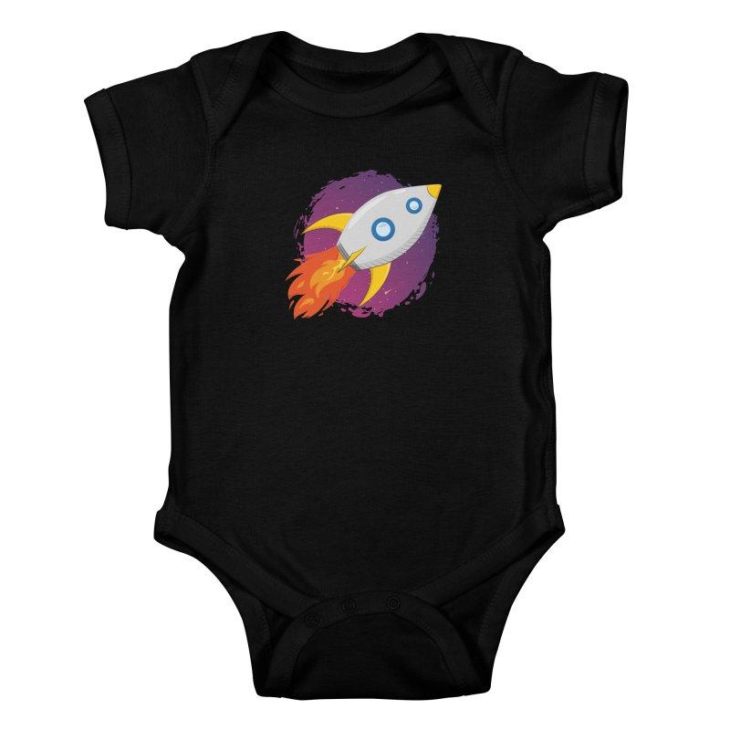 Space Rocket Kids Baby Bodysuit by Synner Design