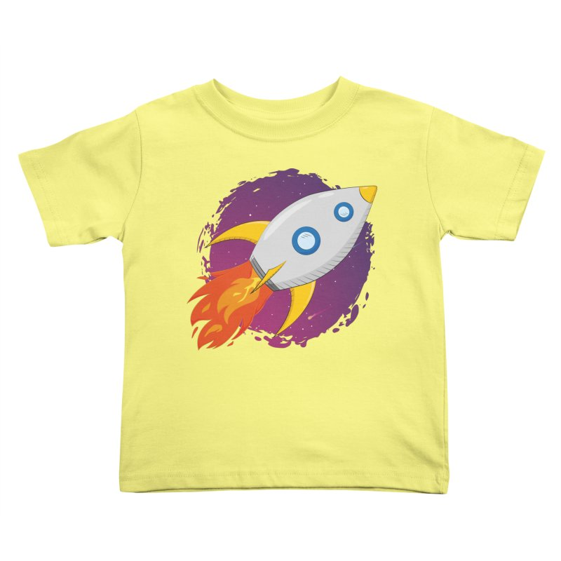 Space Rocket Kids Toddler T-Shirt by Synner Design