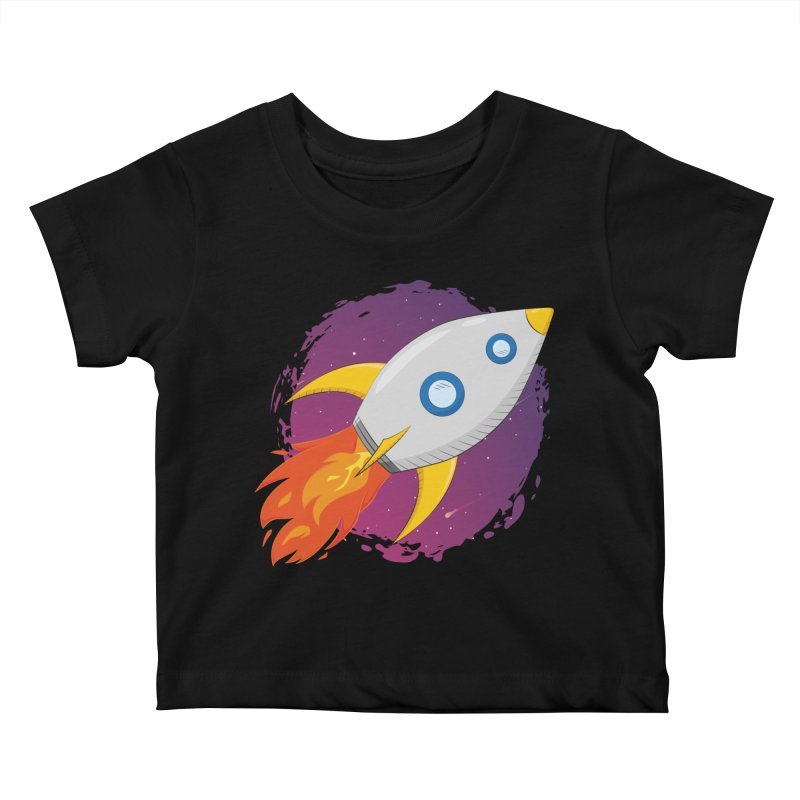 Space Rocket Kids Baby T-Shirt by Synner Design