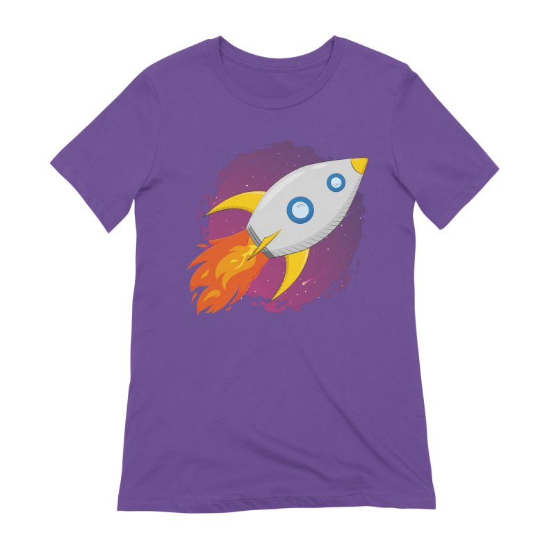 Space Rocket Women's Extra Soft T-Shirt by Synner Design