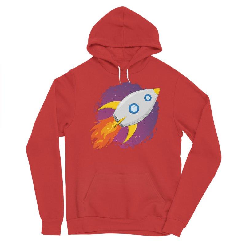 Space Rocket Women's Sponge Fleece Pullover Hoody by Synner Design