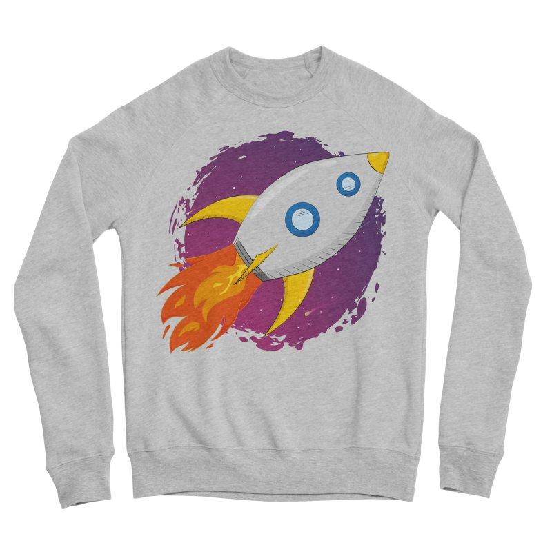 Space Rocket Women's Sponge Fleece Sweatshirt by Synner Design