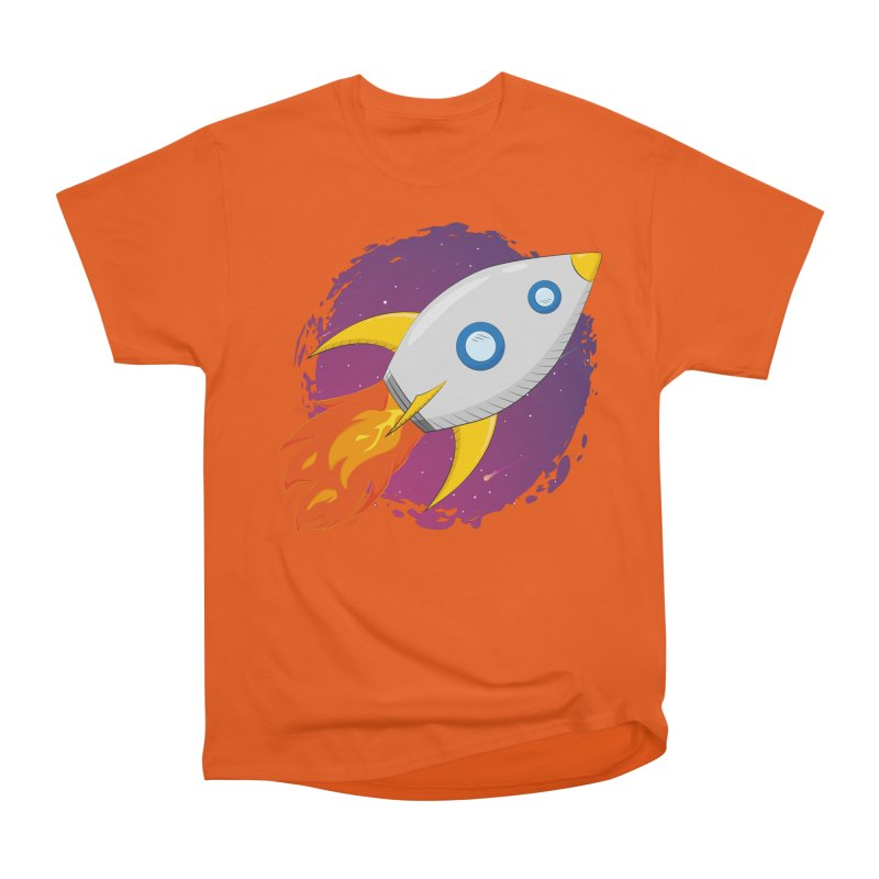 Space Rocket Men's T-Shirt by Synner Design