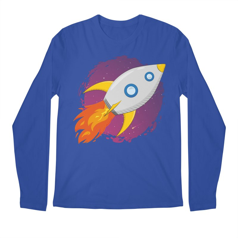 Space Rocket Men's Regular Longsleeve T-Shirt by Synner Design