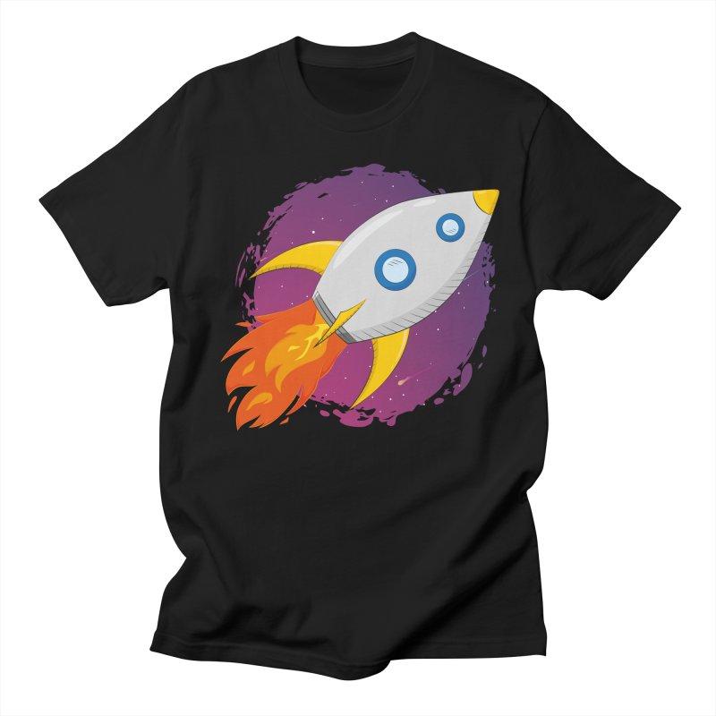 Space Rocket Women's Regular Unisex T-Shirt by Synner Design