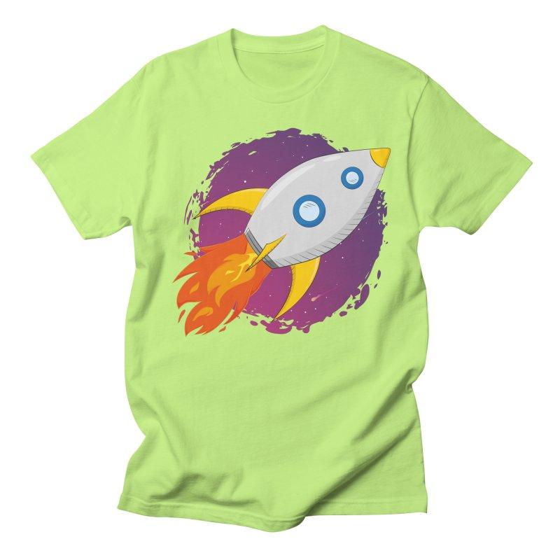 Space Rocket Men's Regular T-Shirt by Synner Design