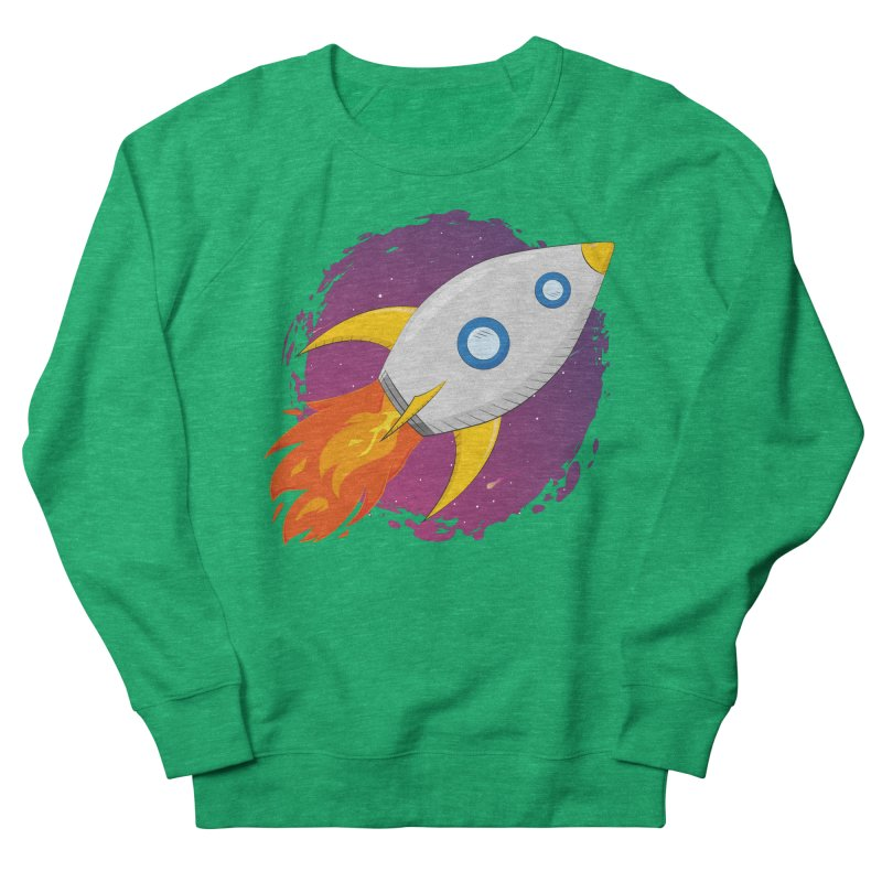 Space Rocket Women's French Terry Sweatshirt by Synner Design