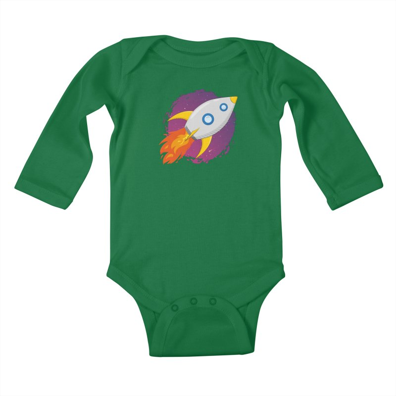 Space Rocket Kids Baby Longsleeve Bodysuit by Synner Design