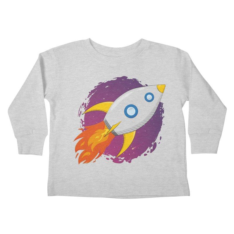 Space Rocket Kids Toddler Longsleeve T-Shirt by Synner Design