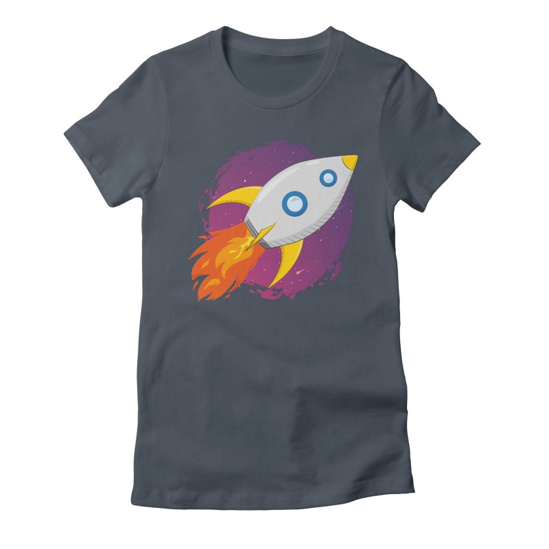 Space Rocket Women's T-Shirt by Synner Design