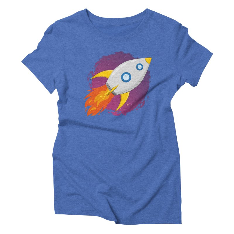 Space Rocket Women's Triblend T-Shirt by Synner Design