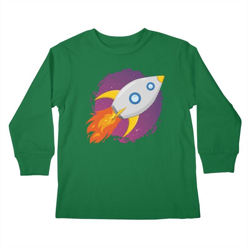 Space Rocket Kids Longsleeve T-Shirt by Synner Design