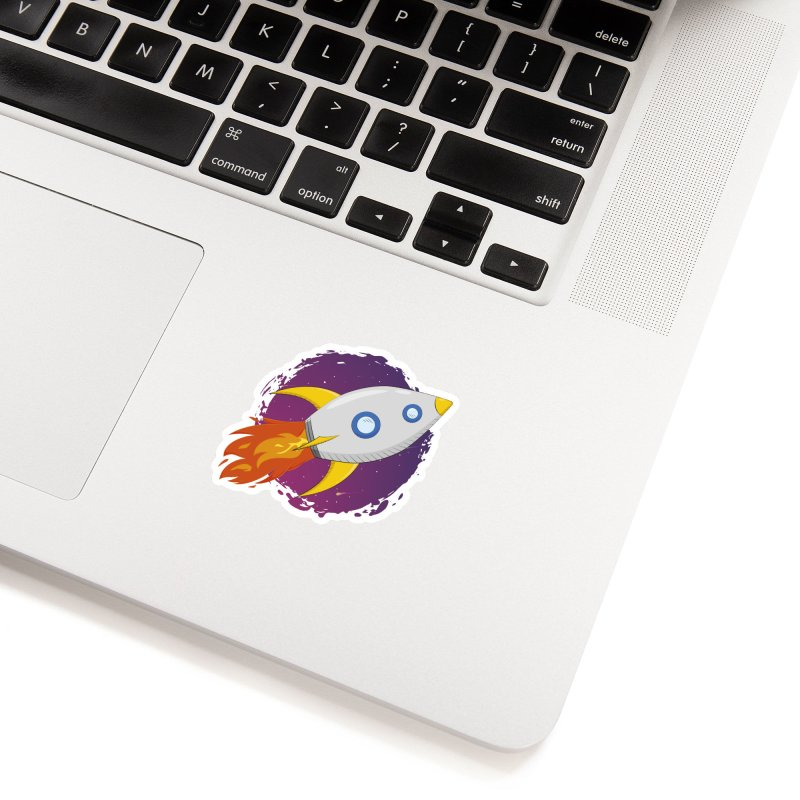 Space Rocket Accessories Sticker by Synner Design