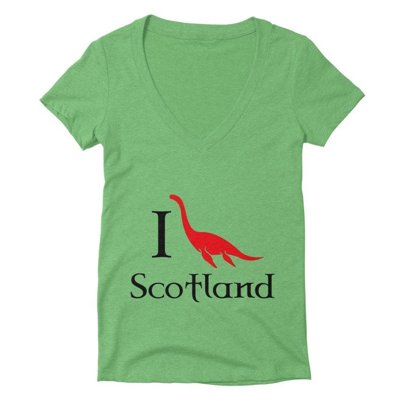 I (heart) Scotland Women's Deep V-Neck V-Neck by Synner Design
