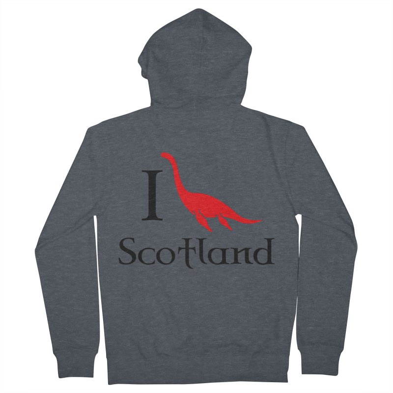 I (heart) Scotland Men's Zip-Up Hoody by Synner Design
