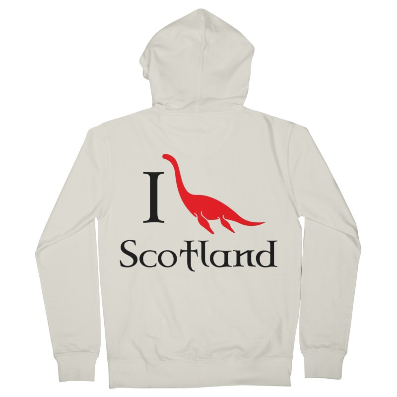 I (heart) Scotland Men's French Terry Zip-Up Hoody by Synner Design