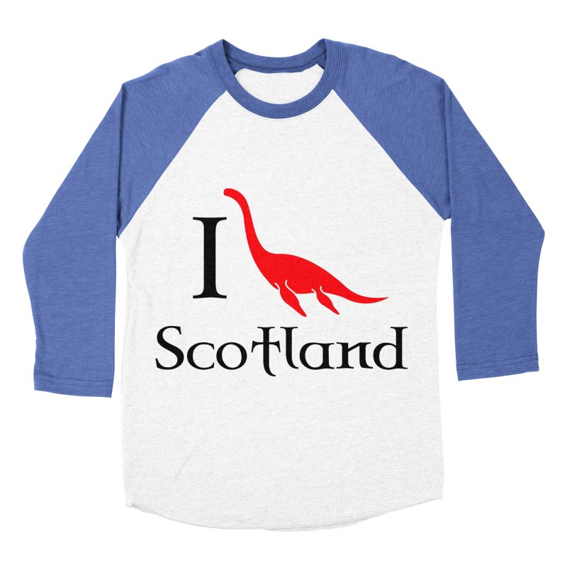 I (heart) Scotland Women's Baseball Triblend T-Shirt by Synner Design