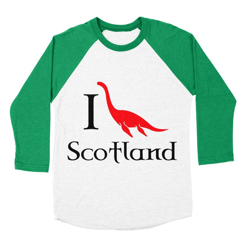 I (heart) Scotland Women's Baseball Triblend Longsleeve T-Shirt by Synner Design