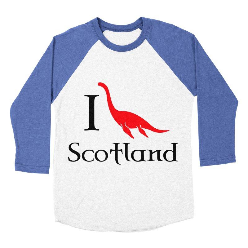 I (heart) Scotland Men's Baseball Triblend T-Shirt by Synner Design