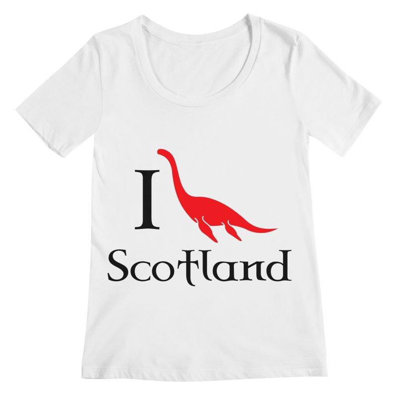 I (heart) Scotland Women's Regular Scoop Neck by Synner Design