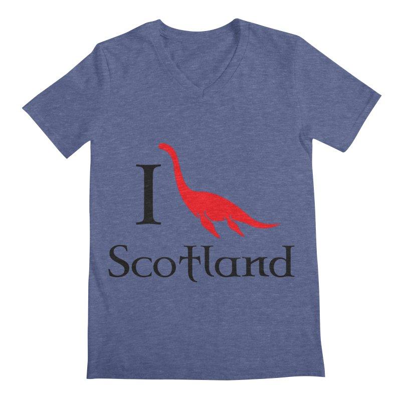 I (heart) Scotland Men's V-Neck by Synner Design