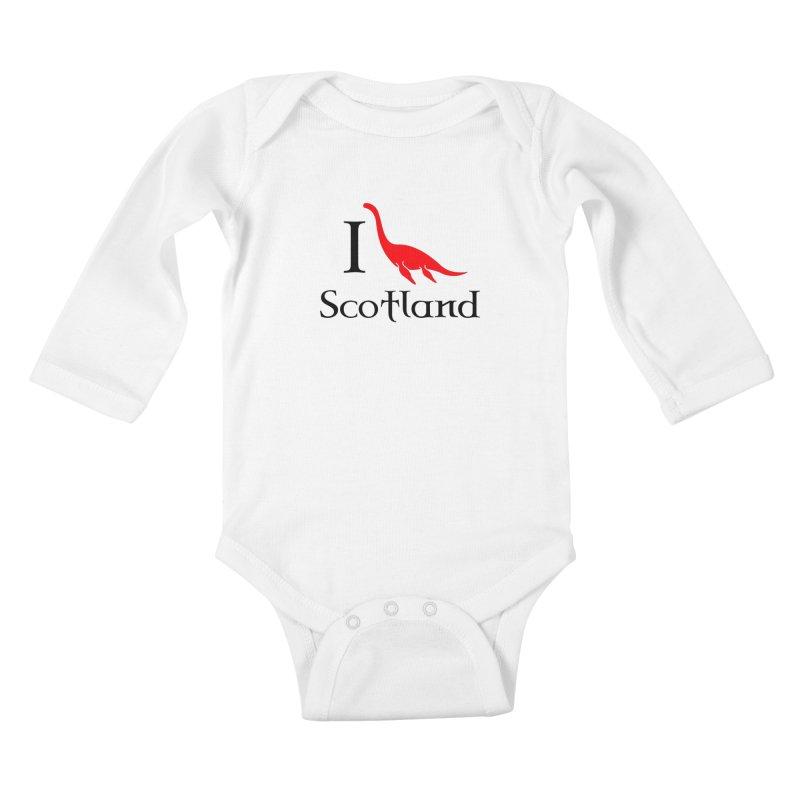 I (heart) Scotland Kids Baby Longsleeve Bodysuit by Synner Design