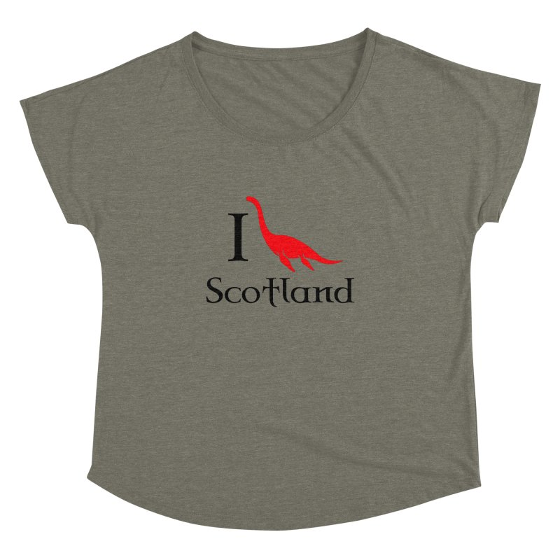 I (heart) Scotland Women's Dolman Scoop Neck by Synner Design