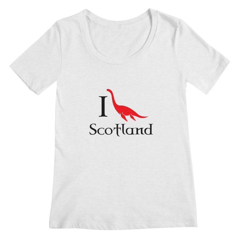 I (heart) Scotland Women's Scoopneck by Synner Design