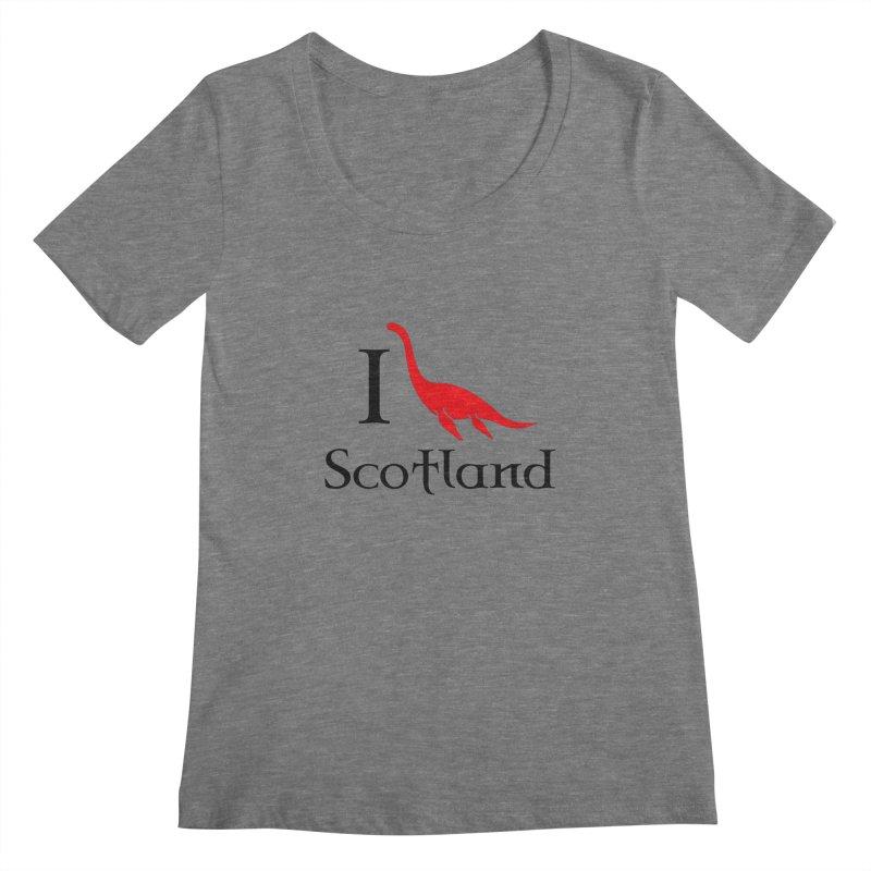 I (heart) Scotland Women's Scoopneck by Synner Design