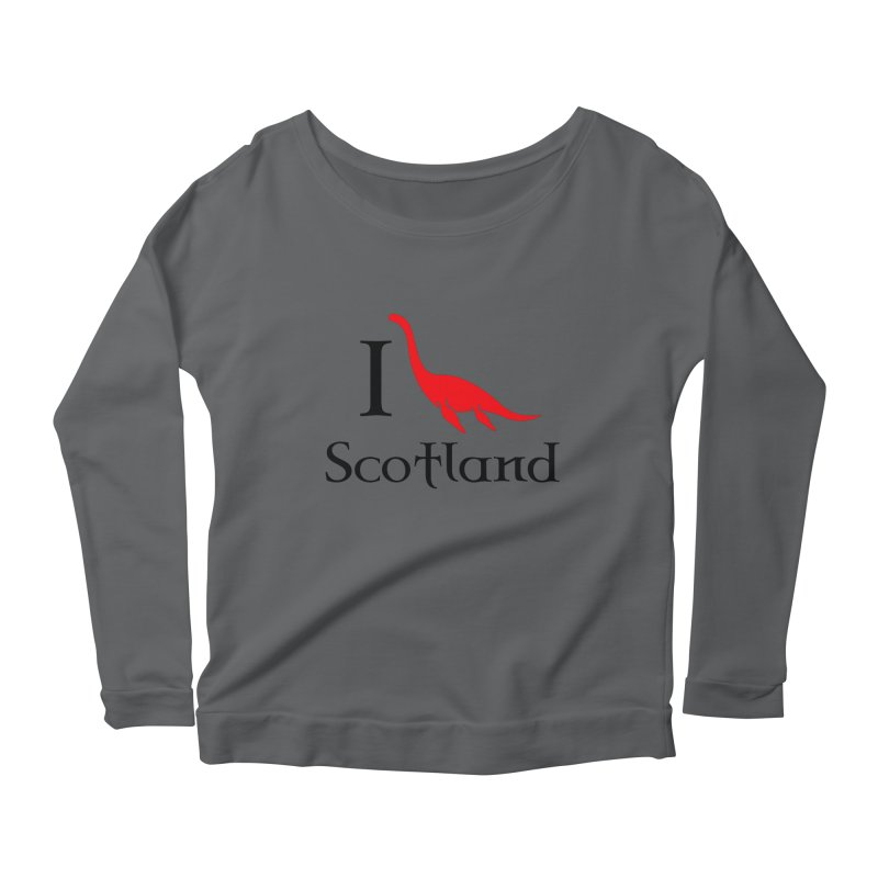 I (heart) Scotland Women's Longsleeve Scoopneck  by Synner Design