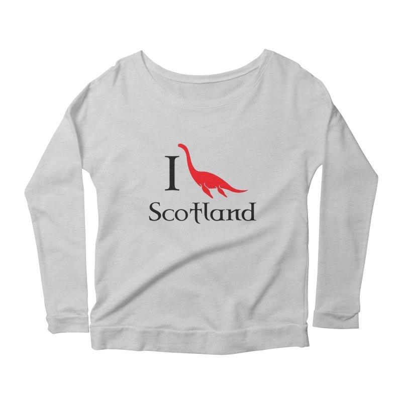 I (heart) Scotland Women's Longsleeve Scoopneck  by Synner Design