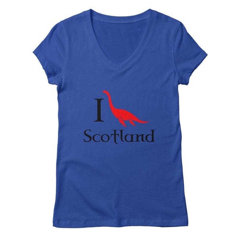 I (heart) Scotland Women's Regular V-Neck by Synner Design