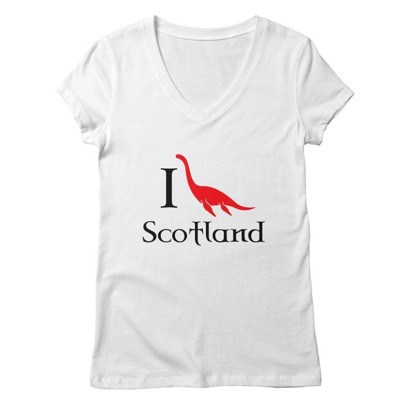 I (heart) Scotland Women's V-Neck by Synner Design