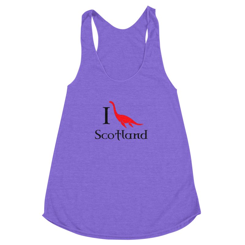 I (heart) Scotland Women's Racerback Triblend Tank by Synner Design