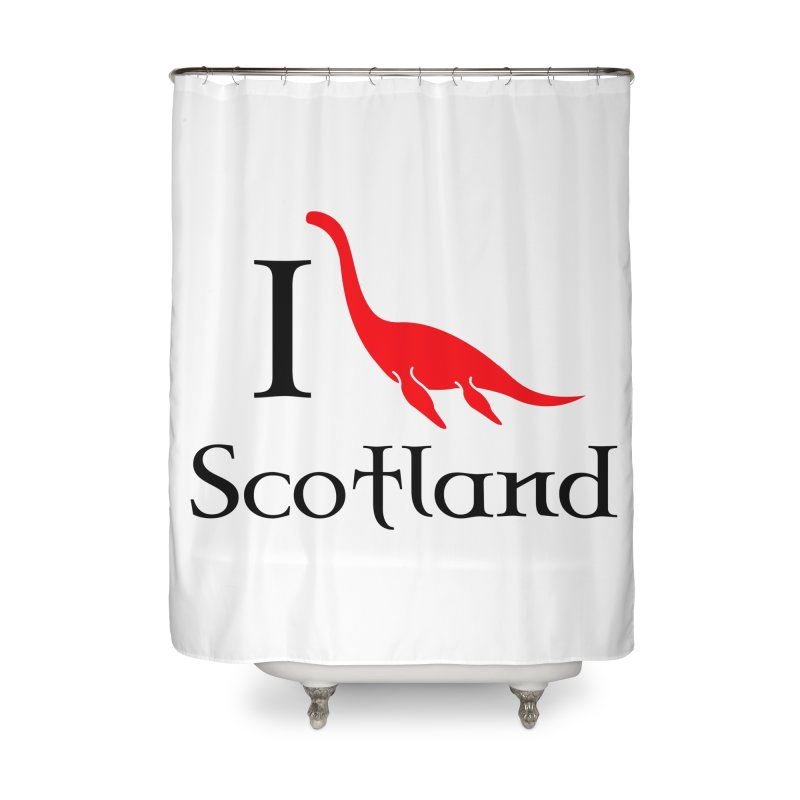 I (heart) Scotland Home Shower Curtain by Synner Design