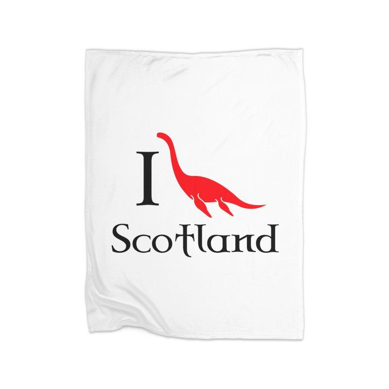 I (heart) Scotland Home Fleece Blanket Blanket by Synner Design