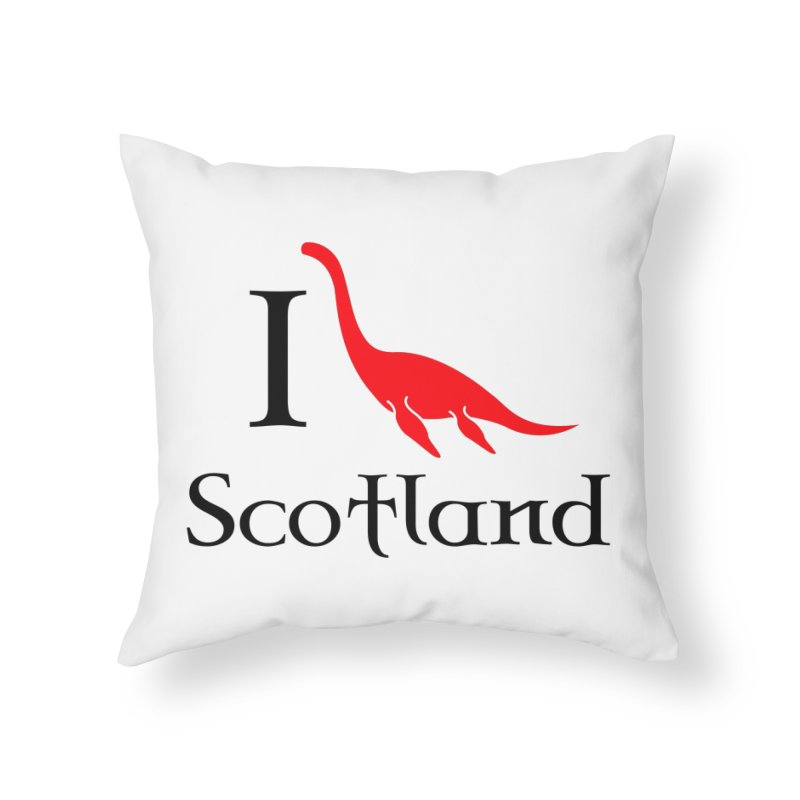I (heart) Scotland Home Throw Pillow by Synner Design