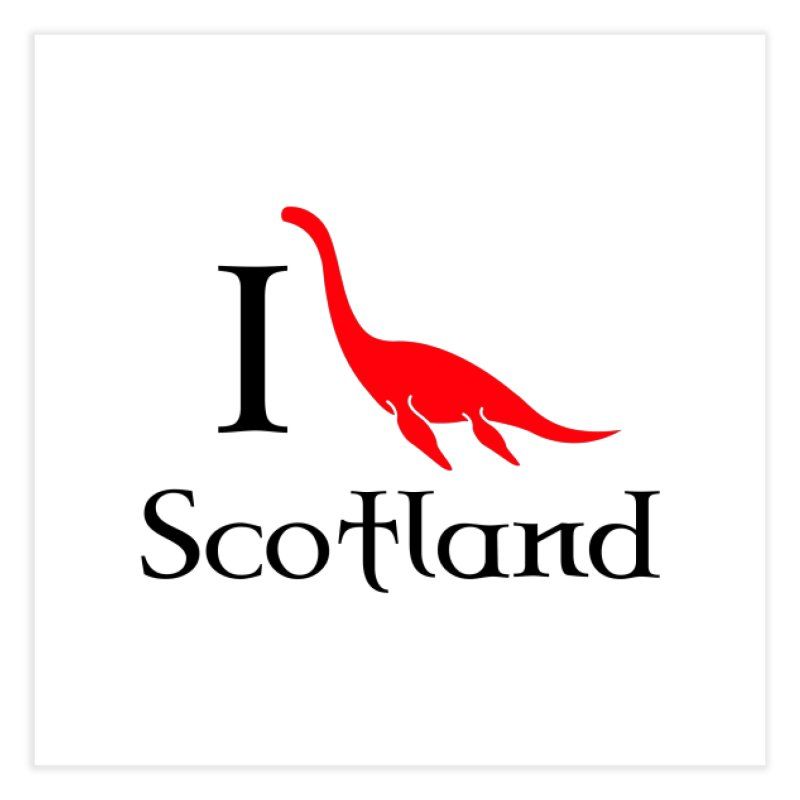 I (heart) Scotland Home Fine Art Print by Synner Design
