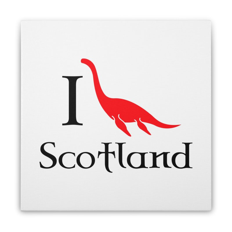 I (heart) Scotland Home Stretched Canvas by Synner Design