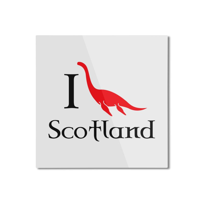 I (heart) Scotland Home Mounted Aluminum Print by Synner Design