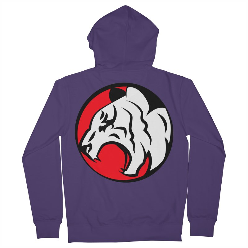 Fierce tiger Women's French Terry Zip-Up Hoody by Synner Design