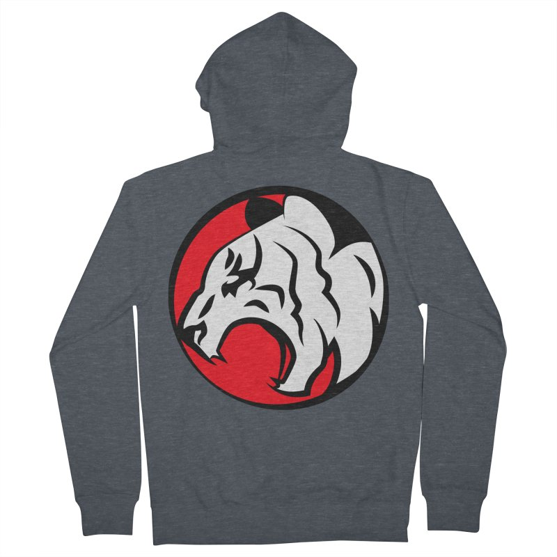 Fierce tiger Men's French Terry Zip-Up Hoody by Synner Design