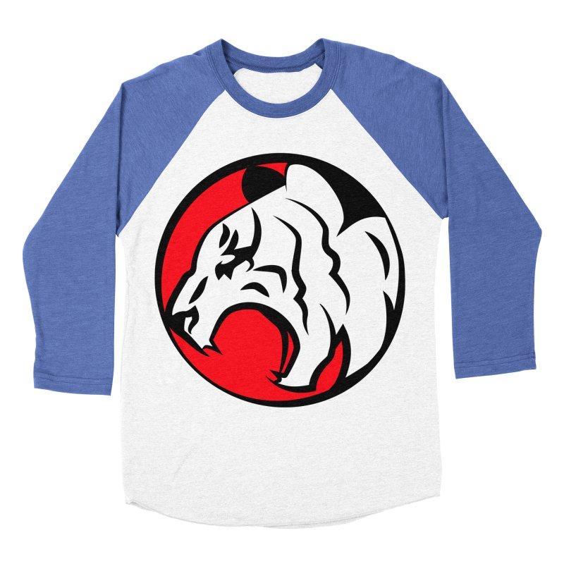 Fierce tiger Women's Baseball Triblend T-Shirt by Synner Design