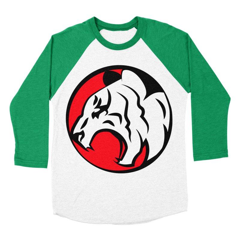 Fierce tiger Women's Baseball Triblend Longsleeve T-Shirt by Synner Design