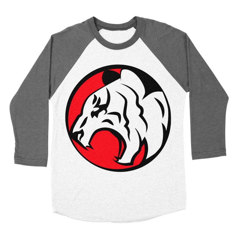 Fierce tiger Men's Baseball Triblend T-Shirt by Synner Design